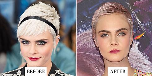 مدل مو جدید کارا دلوین Cara Delevingne