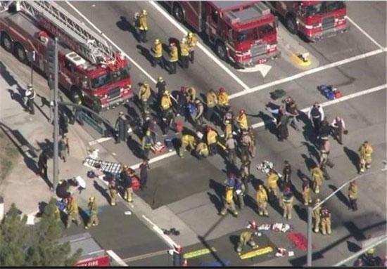 تصویر جسد زنی که به همراه همسرش 14 نفر را در کالیفرنیا کشت