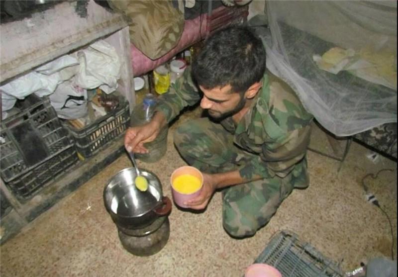 سفره افطار سربازان ارتش سوریه