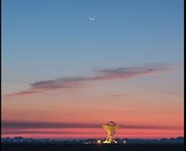 ماه، عطارد و رادیو در هوای گرگ و میش+ عکس فوق العاده