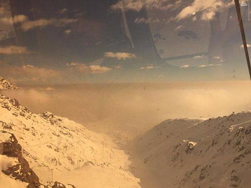 عکس: آلودگی هوای تهران در توچال