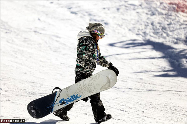 پوشش زنان در پیست اسکی دیزین +عکس