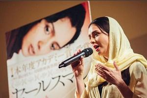 عکس های ترانه علیدوستی در ژاپن در برنامه نمایش فیلم هایش