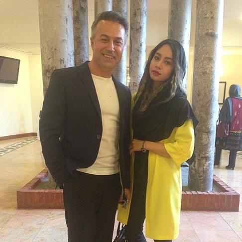 عکس جدید دایانا حکیمی و پدرش