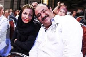 عکس جدید مهران غفوریان و همسرش در یک آسانسور