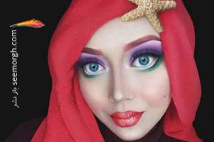 عکس های جالب شخصیت های کارتونی با حجاب!!