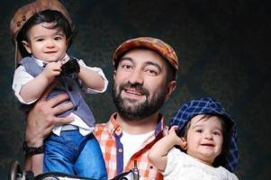 عکس جدید از دوقلوهای بامزه مجید صالحی