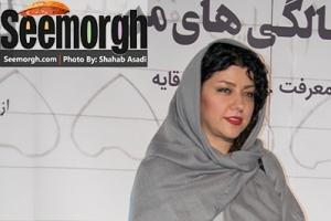 پریچهر قنبری همسر شهاب حسینی به تنهایی به نمایشگاه عکس آمد! عکس