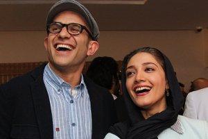 چهره خندان بابک حمیدیان و همسرش برروی کیک تولد 35 سالگی مینا ساداتی