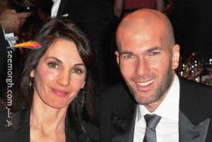 همسر زین الدین زیدان در جشن قهرمانی رئال مادرید! عکس