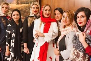 لیلا بلوکات, الهام حمیدی و الناز حبیبی در افتتاحیه یک سالن زیبایی! عکس