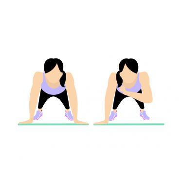 حرکت Shoulder Tap برای بزرگ کردن باسن