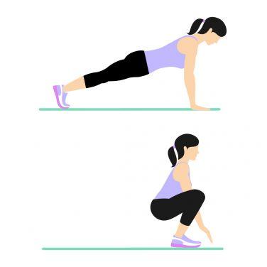 حرکت Squat Thrust برای بزرگ کردن باسن