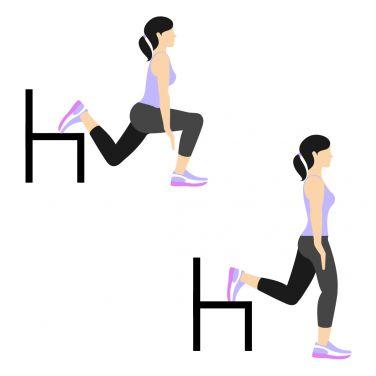 حرکت Split Squat (Right Leg) برای بزرگ کردن باسن