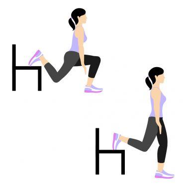 حرکت Split Squat (Left Leg) برای بزرگ کردن باسن