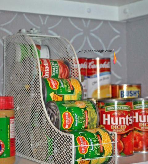 در مرتب کردن کابینت های آشپزخانه از زونکن ها استفاده کنید