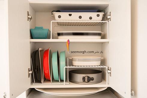 مرتب کردن کابینت با قفسه بندی مناسب