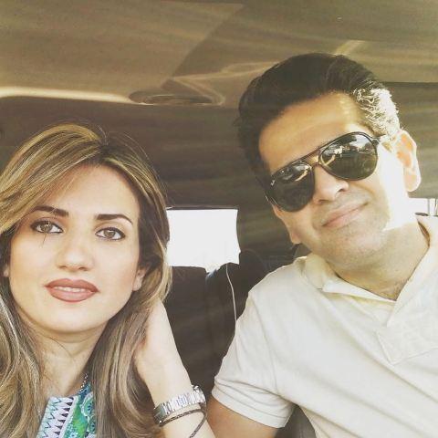 حمید طالب زاده و همسرش ندا