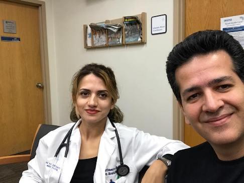 حمید طالب زاده و همسرش ندا که یک پزشک در آمریکاست