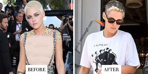 مدل مو جدید کریستین استوارت Kristen Stewart