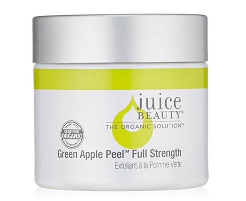 یک لایه بردار شیمیایی ملایم مثل از بین بردن لکه های قهوه ای صورت  Juice Beauty Green Apple Peel Sensitive
