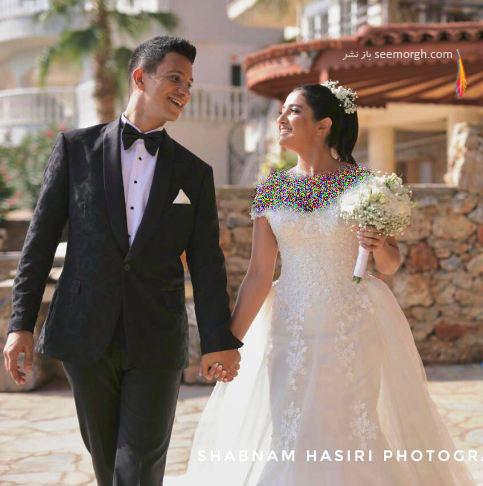 عکس عروسی کامیار و همسرش