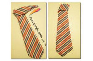 دستمال سفره روز پدر را به شکل کراوات پدرتان تزیین کنید