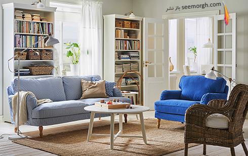 برای یک اتاق نشیمن سفید چه رنگ فرش و مبلی شیک تر است؟