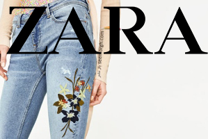 شلوار جین طرح دار، کلکسیون جدید زارا برای بهار 2017