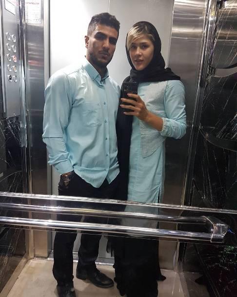مهسا جاور و همسرش