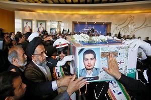 مراسم وداع با شهدای ترور/ حضور مقامات لشکری و کشوری + جزئیات و تصاویر