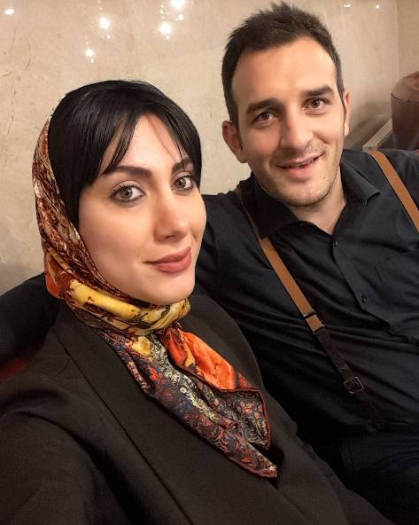 میثم درویشان پور و همسرش