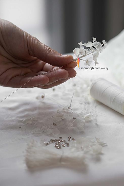 مراحل طراحی لباس عروس میراندا کر Miranda Kerr توسط برند دیور Dior - عکس شماره 2
