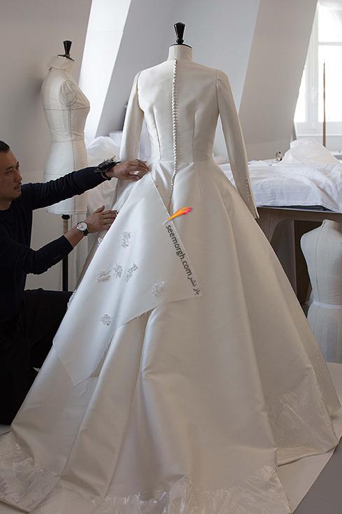 مراحل طراحی لباس عروس میراندا کر Miranda Kerr توسط برند دیور Dior - عکس شماره 4