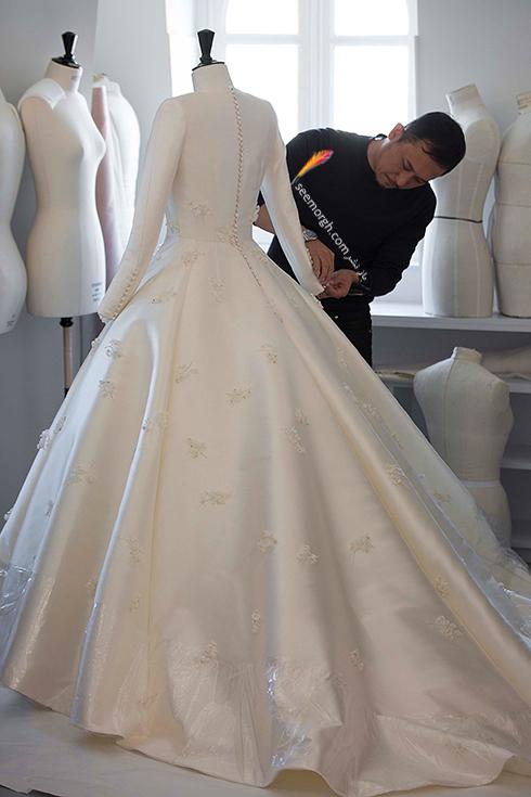 مراحل طراحی لباس عروس میراندا کر Miranda Kerr توسط برند دیور Dior - عکس شماره 6