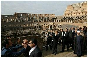 بازدید روحانی از میدان نبرد گلادیاتورها