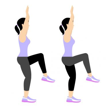 High Knees With Arms Overhead