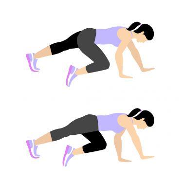 حرکت Sideways Bear Crawl برای تقویت عضلات باسن