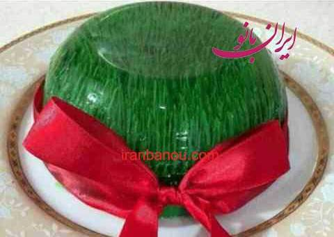 ژله را این بار به شکل سبزه عید درست کنید