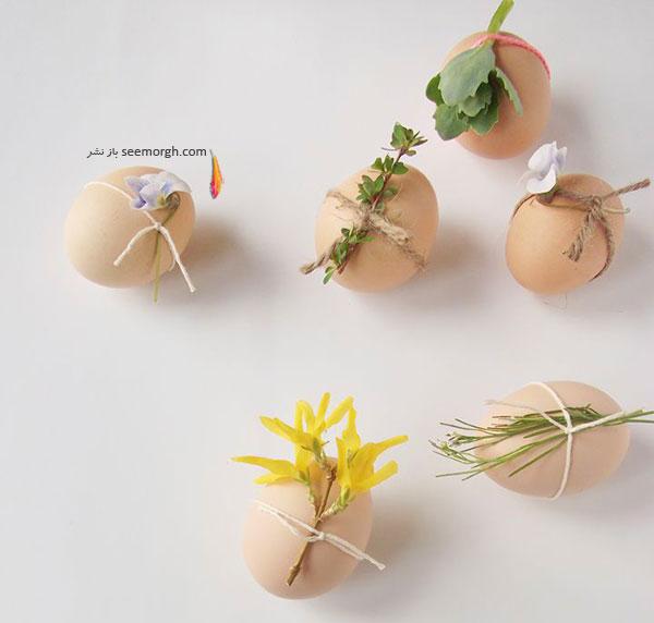 تزیین تخم مرغ,تزیین تخم مرغ هفت سین,تزیین تخم مرغ سفره هفت سین,تزیین تخم مرغ هفت سین با روبان های رنگی برای نوروز - مدل شماره 4
