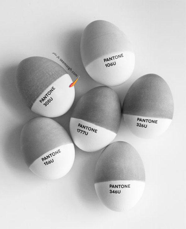 تخم مرغ هفت سین,تزیین تخم مرغ هفت سین,تزیین تخم مرغ هفت سین برای نوروز,تزیین تخم مرغ هفت سین با طراح های سیاه و سفید برای نوروز - تزیین شماره 5