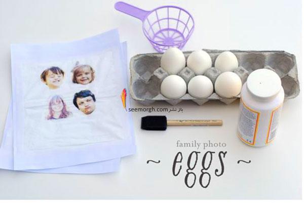 آموزش تزیین تخم مرغ عفت سین با عکس های خانوادگی