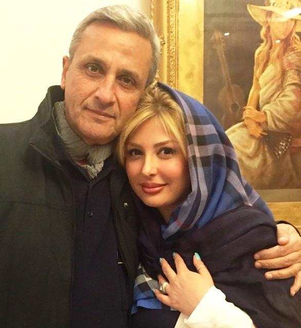 عکس نیوشا ضیغمی و پدرش