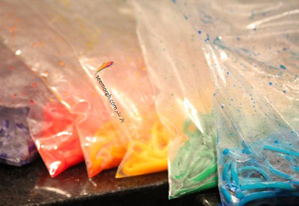 ماکارونی هفت رنگ درست کنید
