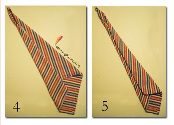 دستمال سفره روز پدر را به شکل کراوات پدرتان تزیین کنید 2