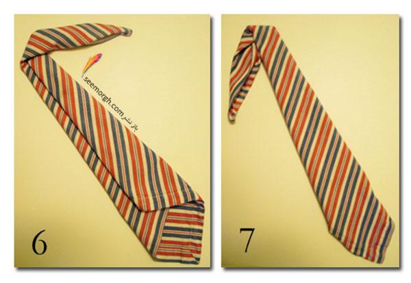 دستمال سفره روز پدر را به شکل کراوات پدرتان تزیین کنید 3