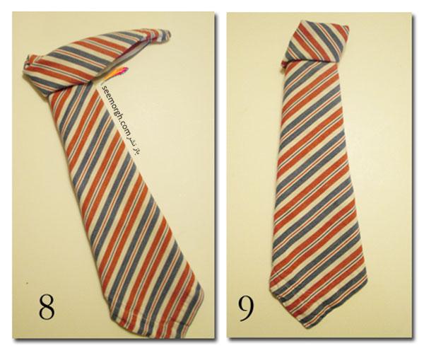 دستمال سفره روز پدر را به شکل کراوات پدرتان تزیین کنید 4