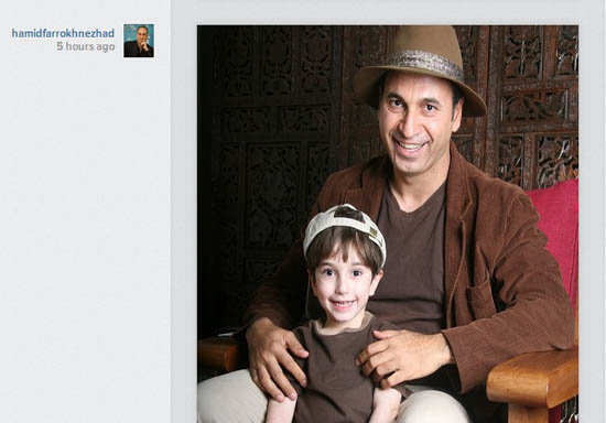 پیام روز پدر حمید فرخ نژاد