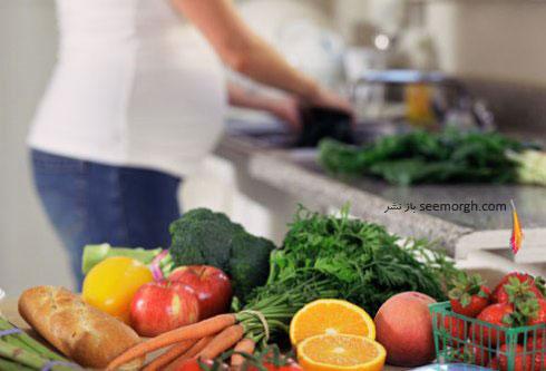 میوهها و سبزیجات شسته نشده