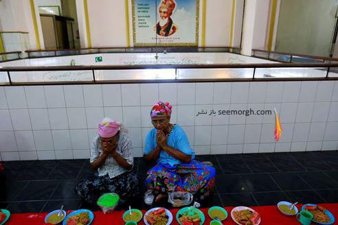 مراسم قبل از افطار در کشر یانگون در ماه رمضان